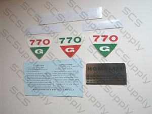 Homelite 770G decal set