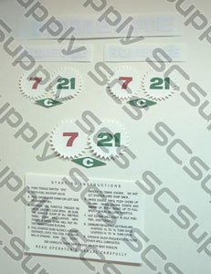 Homelite 7-21C decal set