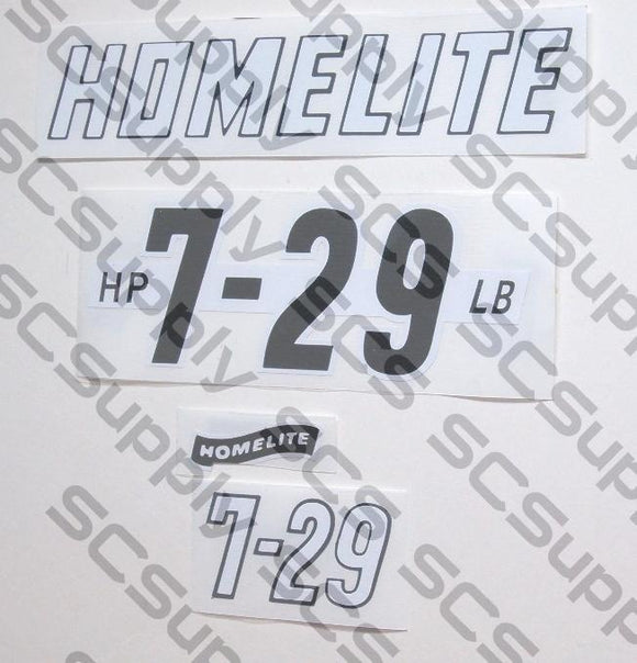 Homelite 7-29 decal set