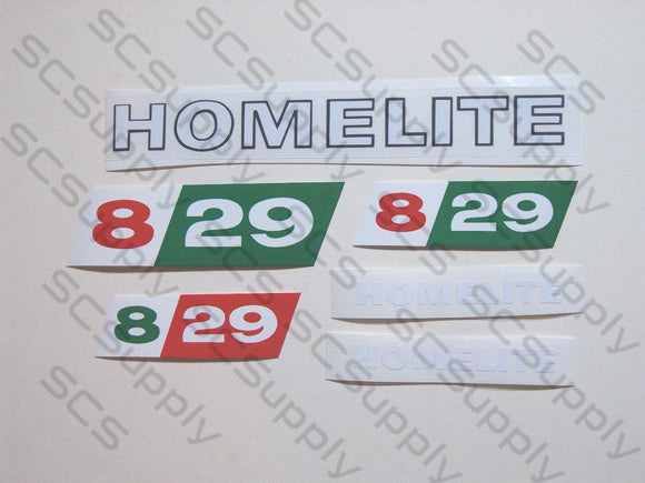 Homelite 8-29 decal set