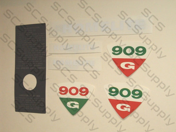 Homelite 909G decal set