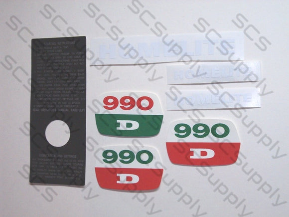 Homelite 990D decal set