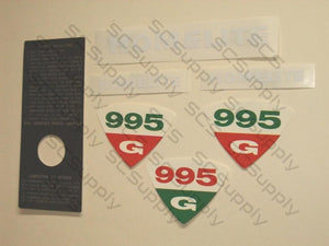 Homelite 995G decal set
