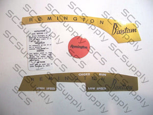 Remington Bantam decal set