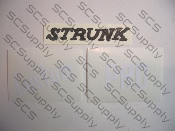 Strunk Custom Pro decal set