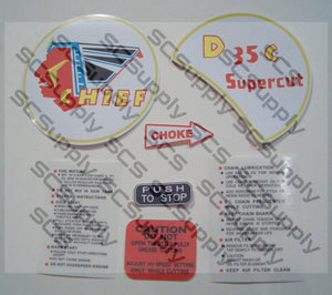 Clinton D35C decal set