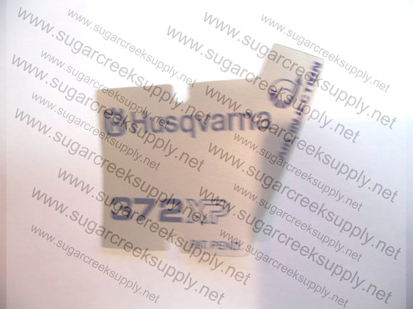 Husqvarna 372XP early starter cover decal