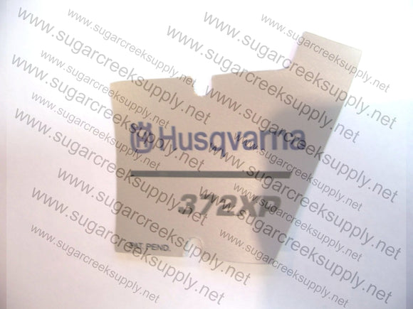Husqvarna 372XP late starter cover decal