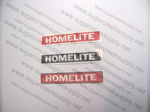 Homelite Super XL and XL-12 airbox cover decal