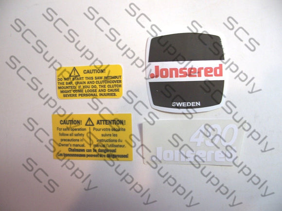Jonsered 490 decal set