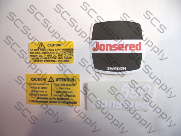 Jonsered 590 decal set