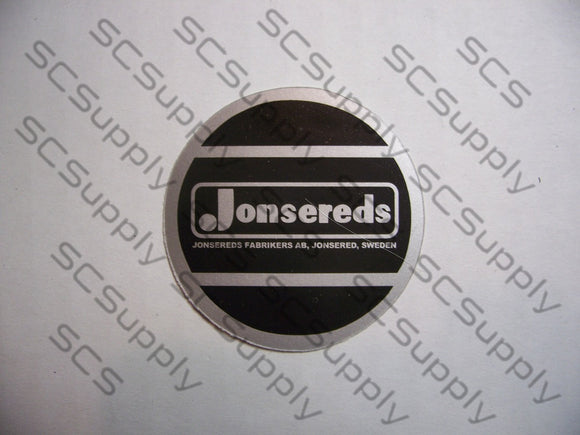 Jonsereds silver/black flywheel decal