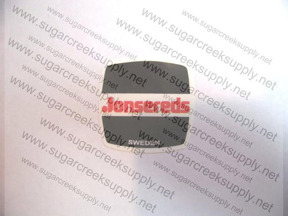 Jonsereds Red/White/Black Square Flywheel decal
