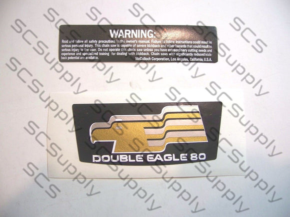 McCulloch Double Eagle 80 decal set