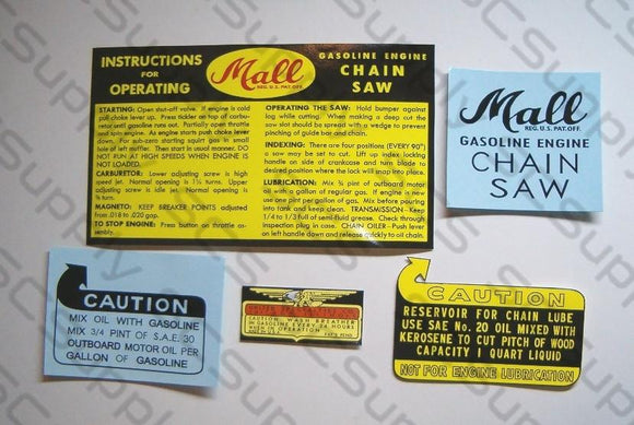Mall Model 7 decal set
