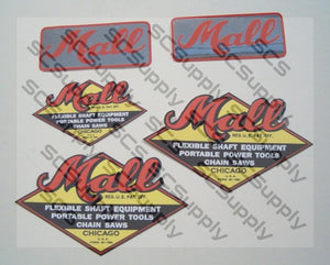 Mall Model 6 (small bar decal) decal set