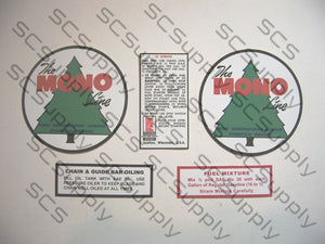 "Mono 3.25"" Tree Logo decal set"
