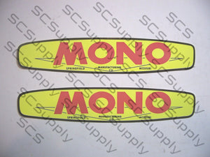 "Mono oval (1.2"" x 6"") bar decal set"