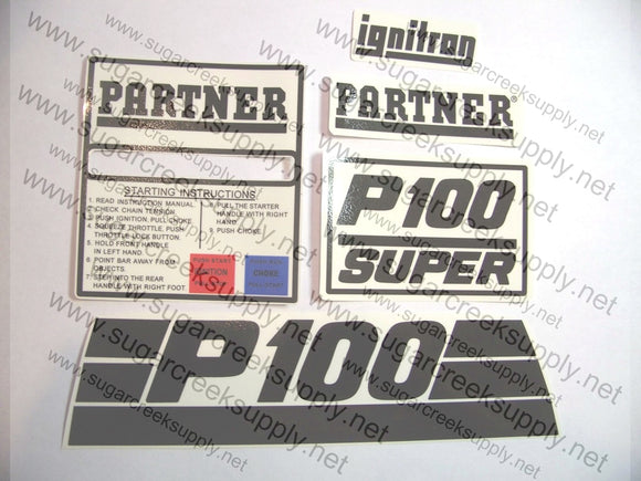 Partner P100 Super decal set