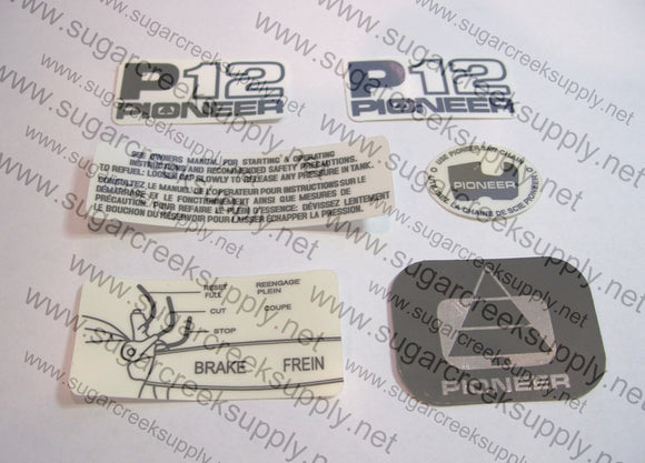 Pioneer P12 decal set