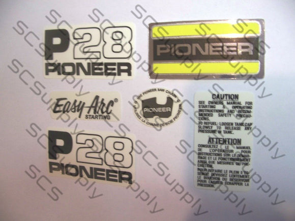 Pioneer P28 (green saw) decal set