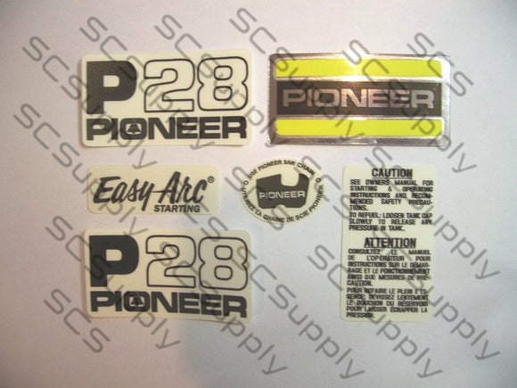 Pioneer P28 (yellow saw) decal set