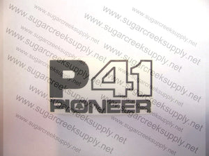 Pioneer P41 clutch and starter cover decal