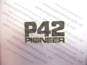 Pioneer P42 clutch and starter cover decal