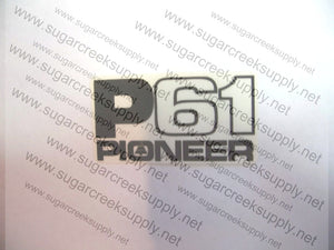 Pioneer P61 clutch and starter cover decal
