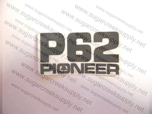 Pioneer P62 clutch and starter cover decal
