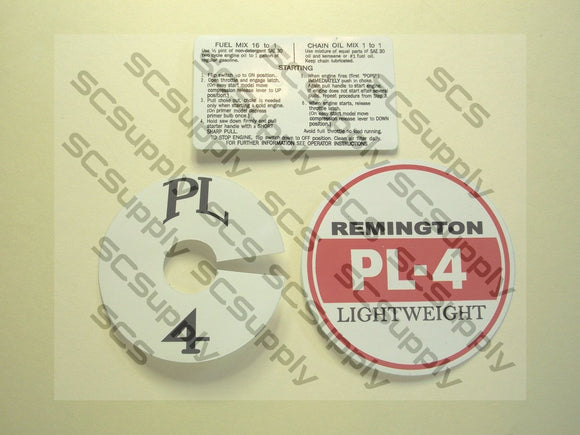 Remington PL-4 (red/white) decal set