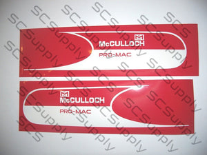 McCulloch Pro MAC bar stencil set