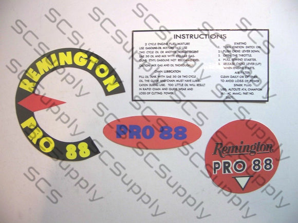 Remington Pro 88 decal set