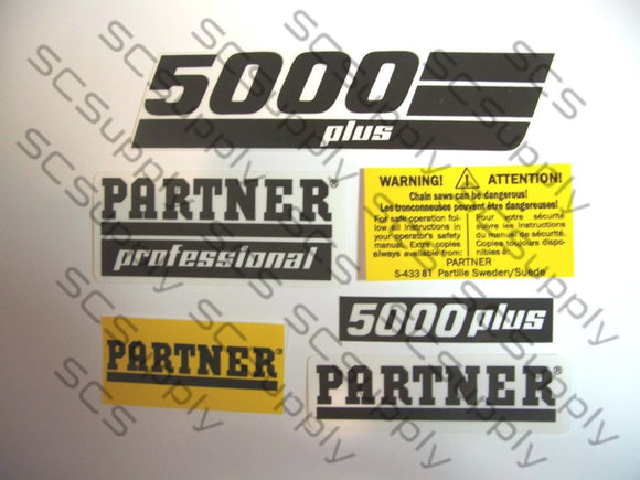 Partner 5000 Plus decal set