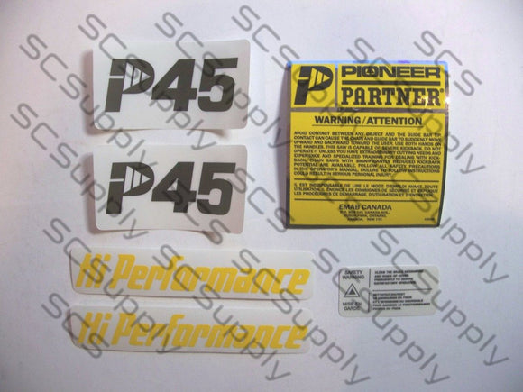 Pioneer/Partner P45 decal set