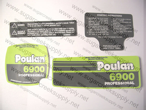 Poulan 6900 decal set
