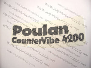 Poulan 4200 Clutch Cover decal