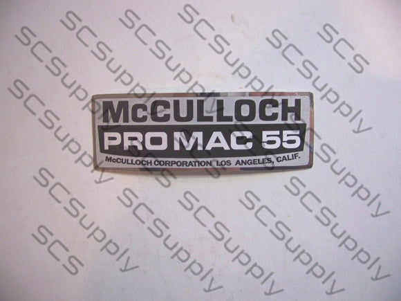 McCulloch ProMac 55 decal set
