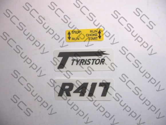 Partner R417 decal set