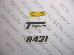 Partner R421 decal set