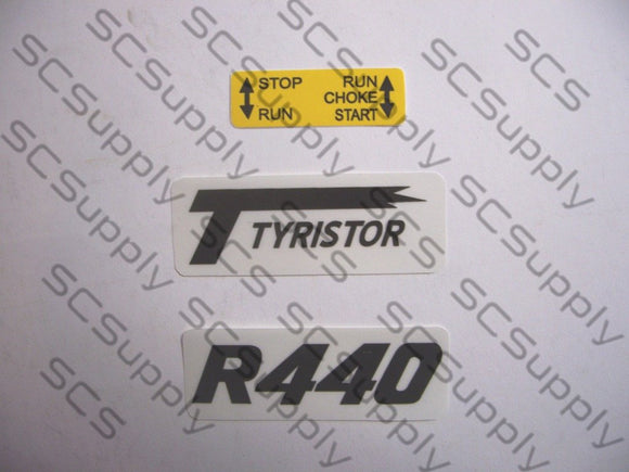 Partner R440 decal set