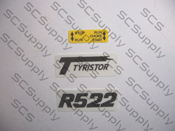Partner R522 decal set