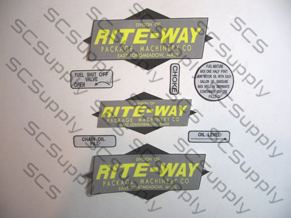 Rite-Way decal set
