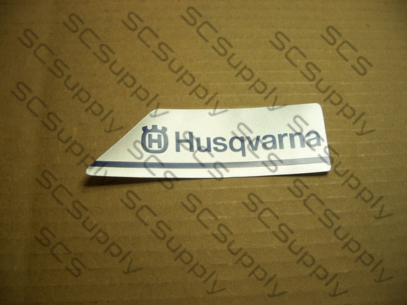 Husqvarna 394XP and 395XP clutch cover decal