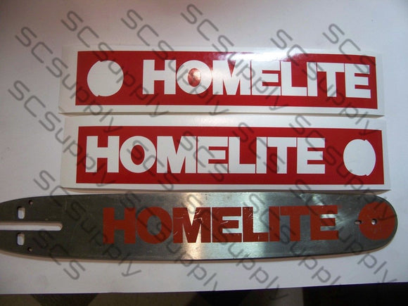 Homelite 16inch HardTip (late XL-12 & Super XL) bar stencil set