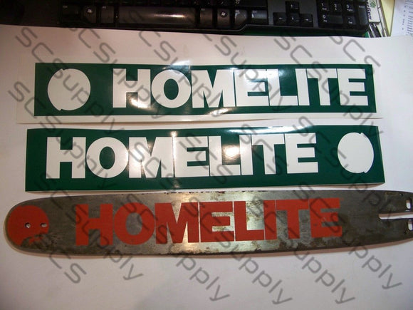 Homelite 20inch HardTip (late XL-12 & Super XL) bar stencil set