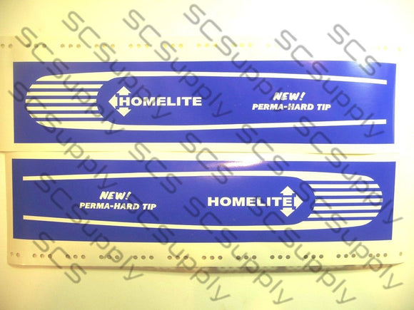 Homelite 16inch HT Coarse Stripe (XL-100 series,SEZ) bar stencil set