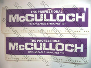 "McCulloch Replaceable Sprocket (12.25"" x 2.25"") v2 bar stencil set"