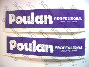 Poulan Professional Sprocketnose bar stencil set