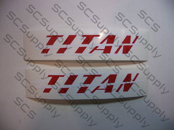TITAN Thunderbolt bar decal set